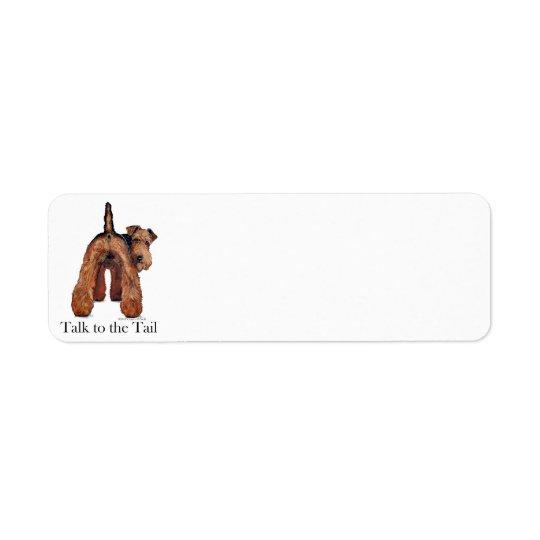 Queue de gallois Terrier Étiquette D'adresse Retour