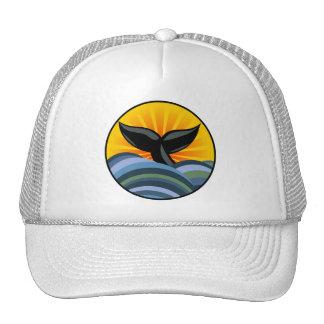 Queue et ressacs de baleine casquette de camionneur