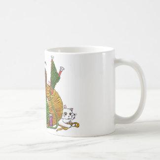 Qui aime tricoter ? mug