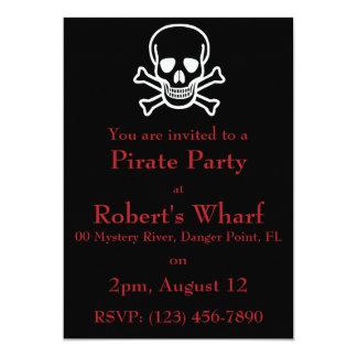 Qui doit être capitaine ? art de pirate carton d'invitation  12,7 cm x 17,78 cm