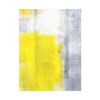 """""""Qui est art abstrait gris et jaune il"""" Toiles"""