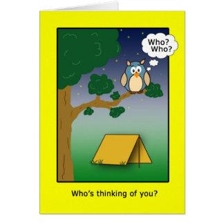 Qui est Thinkig de vous au camp ? Carte De Vœux