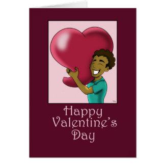 """""""Qui grand coeur à vous"""" carte de Saint-Valentin"""