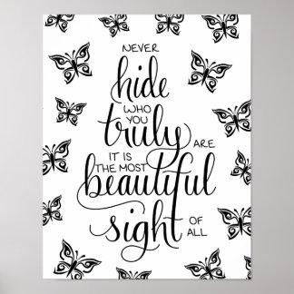 Qui vous êtes beaux, affiche de papillons posters