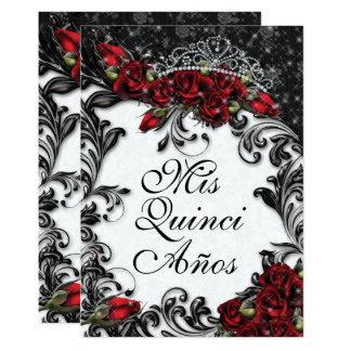 Quinceañera et invitations de partie du bonbon 16