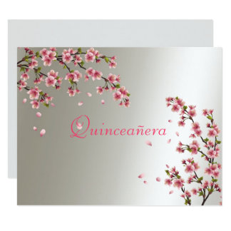 Quinceanera, invitation Sakura de sweet sixteen
