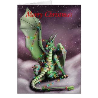 Quirlandes électriques de dragon de Noël Carte De Vœux