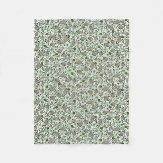 Quokkas en vert couverture polaire