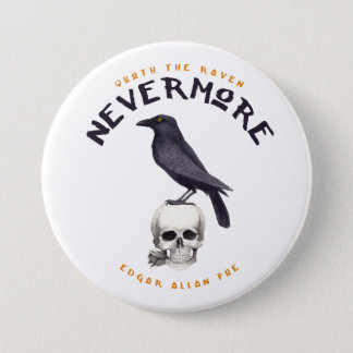Quoth Raven plus jamais - Edgar Allan Poe Badge