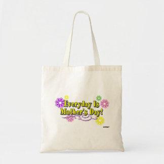Quotidien est le jour de mère ! Fleurs et type Sacs En Toile