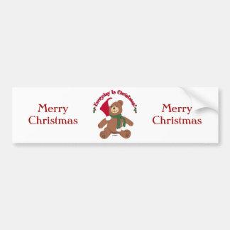 Quotidien est Noël ! Ours de ChristmasTeddy Autocollant De Voiture