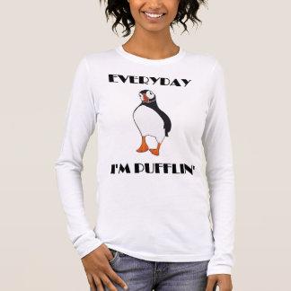 Quotidien je suis oiseau de macareux de Pufflin T-shirt À Manches Longues