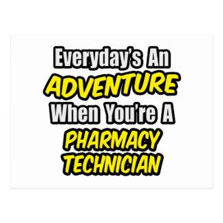 Quotidien une aventure. Technicien de pharmacie Carte Postale