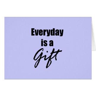 Quotidienne est une carte de note de cadeau