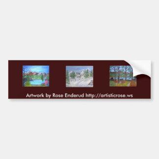 R010, R024, R022, illustration par Enderud rose ht Autocollant De Voiture
