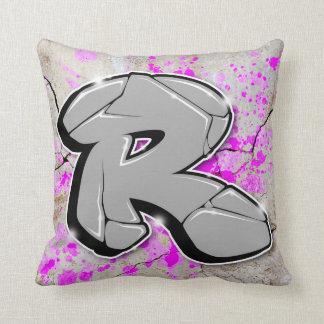 R - Coussin de graffiti