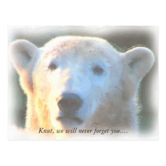 R.I.P. aquarelle de Knut d'ours blanc Carte Postale