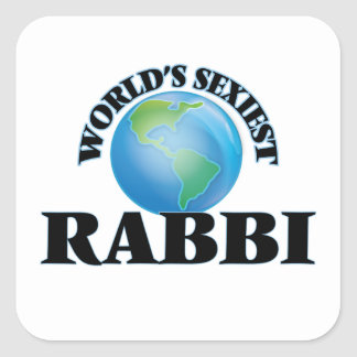 Rabbin le plus sexy du monde sticker carré