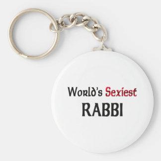 Rabbin le plus sexy du monde porte-clé rond