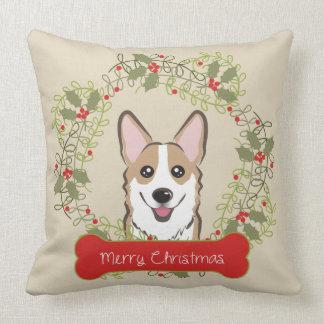 Race de chien de Joyeux Noël Coussin