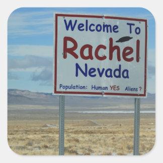 "Rachel Nevada 3"" autocollants - ensemble de 6"