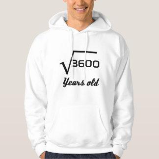 Racine carrée de 3600 60 années veste à capuche