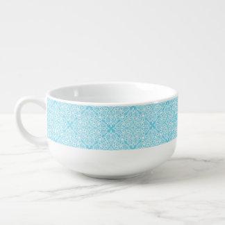 Racine rêveuse bleue lumineuse mug à soupe