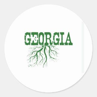 Racines de la Géorgie Sticker Rond