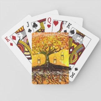 Racines du mariage rustique romantique d'arbre jeux de cartes
