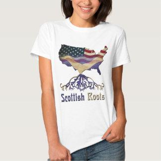 Racines écossaises américaines t-shirt