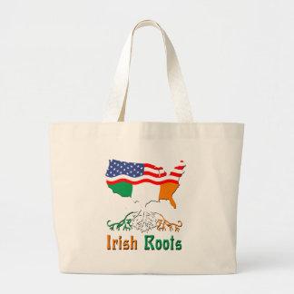 Racines irlandaises américaines sac en toile jumbo