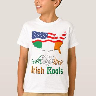 Racines irlandaises américaines t-shirts