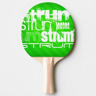Raclement ; Rayures vertes au néon Raquette Tennis De Table
