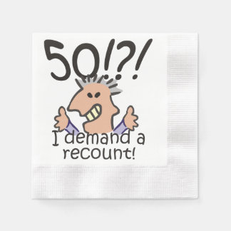 Racontez le cinquantième anniversaire serviettes jetables