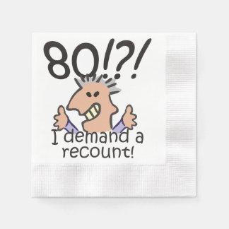 Racontez le quatre-vingtième anniversaire serviette en papier