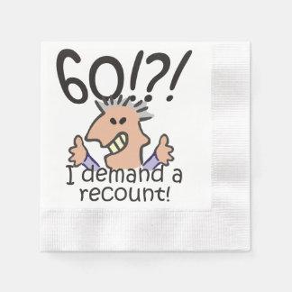 Racontez le soixantième anniversaire serviettes en papier
