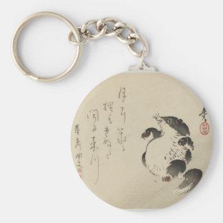Racoon-chien (Tanuki) par Shibata Zeshin Porte-clé Rond