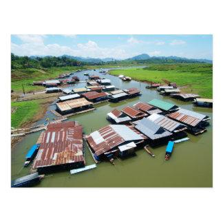 Radeau de Myanmar Carte Postale