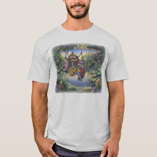 Radha Krishna sur le T-shirt d'oscillation