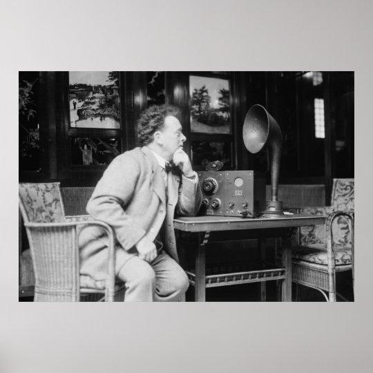 Radio antique, les années 1900 tôt poster