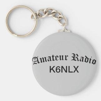 Radio et indicatif d'appel amateurs porte-clé rond