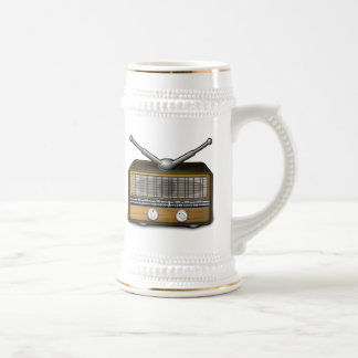 Radio vintage tasses à café