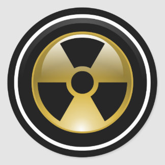 Radioactif Sticker Rond