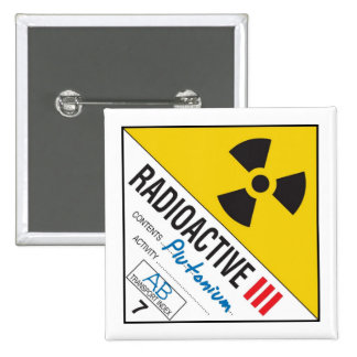 Radioactive - Plutonium Pin's