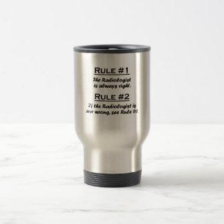 Radiologue de règle mug de voyage