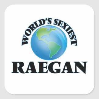 Raegan le plus sexy du monde autocollants carrés