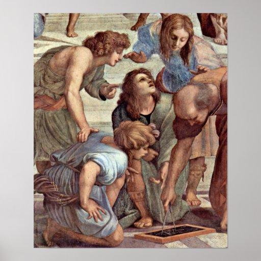 Raffael - Euclid (Bramante) et étudiants Affiches