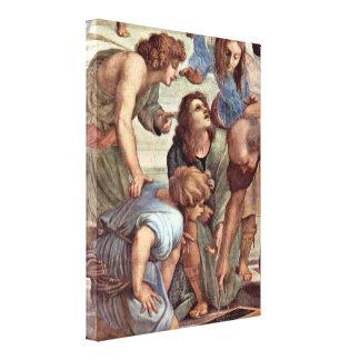 Raffael - Euclid (Bramante) et étudiants Impression Sur Toile