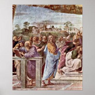 Raffaello Sanzio - architecte Bramante avec le liv Affiches