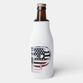 Rafraichisseur De Bouteilles Drapeau patriotique des Etats-Unis d'initiale de